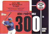 2007 Bowman Chrome Alex Rodriguez Road To 500 #300