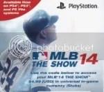 2014 MLB The Show '14 Stub