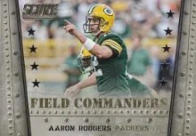 2014 Score Aaron Rodgers Field Commanders