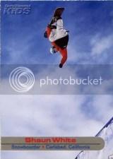 2003 Shaun White SI For Kids RC Card