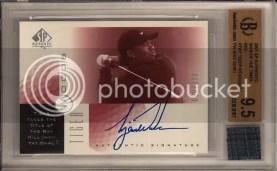 2001 Sp Authentic Tiger Woods SOTT Autograph