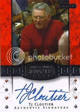 2010 Razor Poker TJ Cloutier Bracelet Winner Autograph