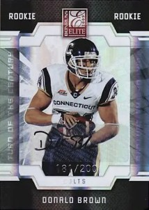 Donald Brown Donruss Elite RC