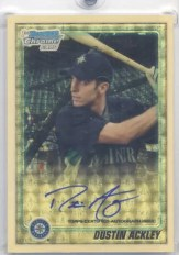 2010 Bowman Chrome Dustin Ackley Superfractor Autograph 1/1