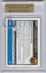 2010 Bowman Chrome Stephen Strasburg Superfractor BGS 9.5 Back