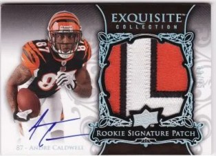 Andre Caldwell 2008 Upper Deck Exquisite Football RC Patch Auto
