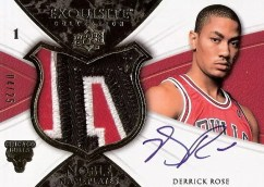 Derrick Rose Exquisite Patch Auto