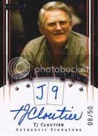2010 Razor Poker TJ Cloutier Autograph Favorite Hand J 9