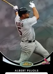 2010 Topps Finest Albert Pujols Base Card