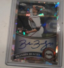 2011 Topps Chrome Brandon Beachy Atomic Ref Auto