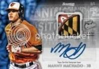 2013 Bowman Inception Manny Machado Auto Relic