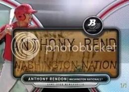 2013 Bowman Bat Plate Anthony Rendon