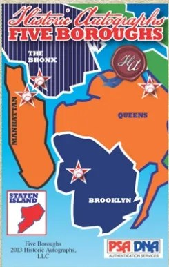 2013 Historic Autographs The Five Boroughs