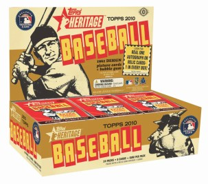 2010 Topps Heritage Baseball Hobby Box Preview