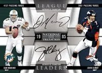 2009 Playoff National Treasures Football Dan Marino John Elway Autograph