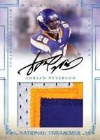 Adrian Peterson National Treasures Auto/Jersey