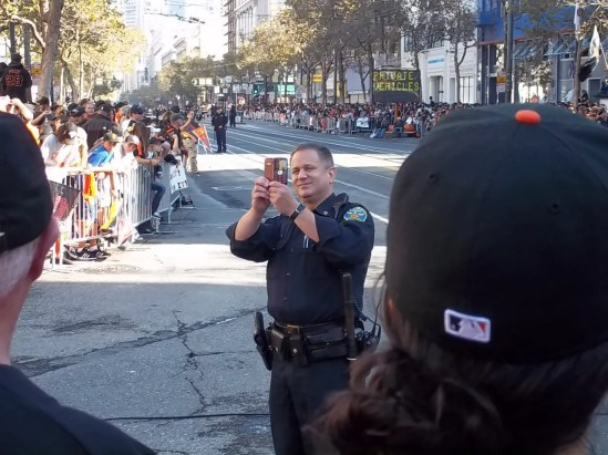 SF Giants Parade Police Photo