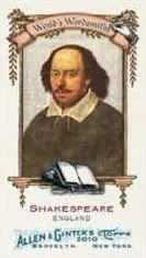 2010 Topps Allen & Ginter Shakespeare Card
