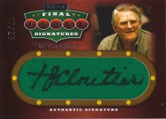 2010 Razor Poker TJ Cloutier Final Table Felt Autograph
