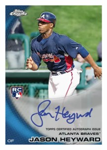 2010 Topps  Chrome Jason Heyward Autograph