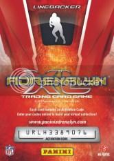 2010 Panini Adrenalyn XL Football Card Back