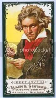 Beethoven 2009 Topps Allen & Ginter Black Border