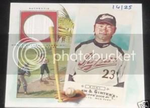 Norichika Aoki 2009 Topps Allen & Ginter N43 Relic Jersey Card