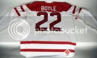 2010 Dan Boyle Canada Game Worn Hockey Jersey