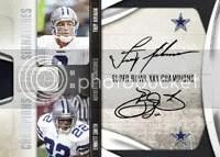 Dallas Cowboys National Treasures Quad Autograph Card