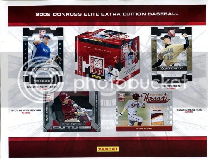 2009 Donruss Elite Extra Edition EEE Baseball Sell Sheet