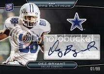 2010 Platinum Dez Bryant Black Refractor Autograph