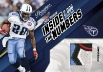 2010 Panini Prestige Football Chris Johnson Inside the Numbers