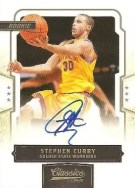 09/10 Panini Classics Stephen Curry Auto RC