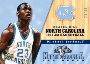 2010 UD North Carolina Basketball Michael Jordan