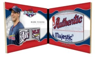2010 Topps Triple Threads Mark Teixeira Laundry Tag