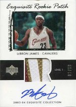 03/04 LeBron James Exquisite Patch RC