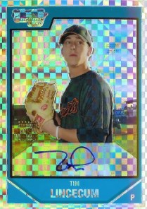 2007 Bowman Chrome Tim Lincecum Autograph RC