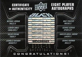 08/09 UD Black Octo Auto Certificate of Authenticity