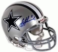 2010 TriStar Hidden Treasures Football Troy Aikman Auto  Mini Helmet