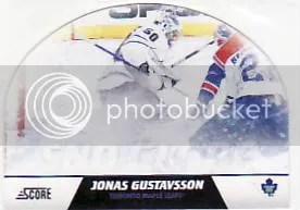 2010/11 Score Hockey Snow Globe Jonas Gustavsson Inserts Card