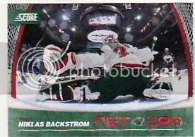 2010/11 Score Hockey Niklas Backstrom Net Cam Insert Card