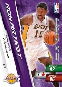 2010/11 Ron Artest Adrenalyn Series 2 Extra