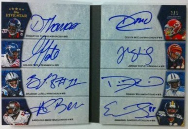 2010 Topps Five Star Football Futures Eight Signature Book Auto Card