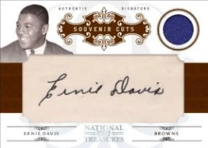 2010 Panini National Treasures Ernie Davis Jersey Autograph Card
