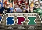 2010 Upper Deck Spx Football Triple Jersey Tebow Bradford Clausen