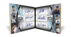 2011 Bowman Platinum Hexagraph Autograph Book Card