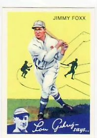 2011 Topps Jimmy Fox 1934 Goudey