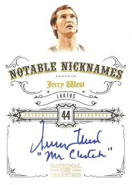 09/10 Panini National Treasures Notable Nicknames Auto Jerry West