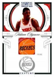 09/10 National Treasures Century Legends Hakeem Olajuwon Team Logo Parallel