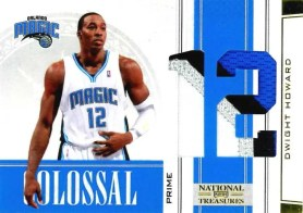 2009/10 Panini National Treasures Dwight Howard Prime Colossal Jersey Card